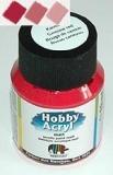 Akrylová barva - karmínová červeň