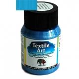 Barva na textil - modrá metalíza