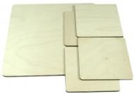 Dřevěné prostírání čtvercové