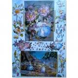 Papíry na decoupage - květinové víly 1
