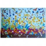 Papíry na decoupage - rozkvetlá louka