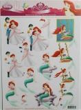 Papíry na decoupage 3D - Ariel