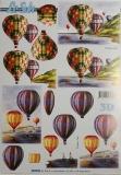 Papíry na decoupage 3D - balónové létání