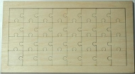 Puzzle překližka - 32x16 cm