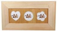 Rámeček dřevěný na 3 fotky 33x18 cm