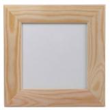 Rámeček dřevěný, mírně zaoblený 12x12 cm