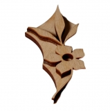 Razítko na textil - flora 73