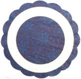 Ubrousek kulatý - modrobílý