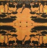 Ubrousek Afrika - sloni, žirafy
