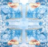 Ubrousek andělský - andělé, modrý