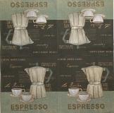 Ubrousek káva - šálek, zrnka kávy