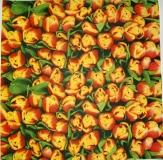 Ubrousek květiny - červenožluté tulipány