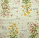 Ubrousek květiny - žluté a růžové kvítky