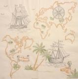 Ubrousek mořský svět - mapa