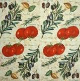 Ubrousek zelenina - rajčata, olivy
