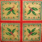 Ubrousek vánoční - cesmína rám