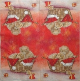 Ubrousek vánoční - psi v košíku