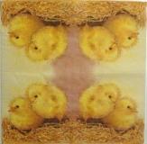 Ubrousek velikonoční - kuřátka na slámě
