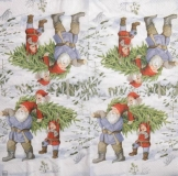 Ubrousek víly a elfové- skřítci se stromkem