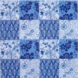 Ubrousek vzorovaný - modré květy