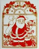 Vánoční dekorace - Santa Claus zlatý