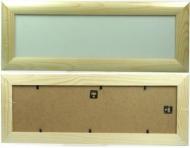 Rámeček dřevěný, mírně zaoblený 35x10 cm