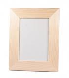 Rámeček na fotky dřevěný plochý 13x18 cm (4) bílý sololit