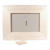 Rámeček na fotky dřevěný plochý 10x15 cm (4) Smrk