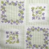 Ubrousek květiny - fialky v rámu