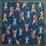 Ubrousek andělský - andělé modrá