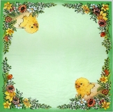 Ubrousek velikonoční - kuře na zelené