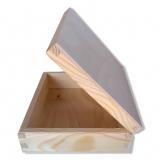 Dřevěná krabička 19x16,8 cm