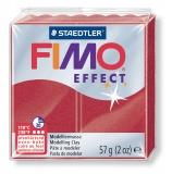 Fimo effect - metalická rubínová 57g