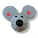 Nalepovací dřevěné myšky šedé - 5ks