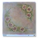 Papír na scrapbooking - Růže 30x30 cm