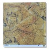 Papír na scrapbooking - Antické mapy 30x30 cm