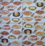 Ubrousek jídlo - zákusky na talíři