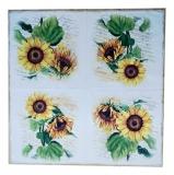 Ubrousek květiny - slunečnice na dopisech
