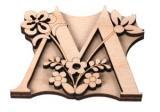 Razítko na textil - písmeno M