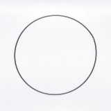 Drátěný kruh na lapač snů černý - průměr 25 cm