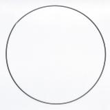 Drátěný kruh na lapač snů černý - průměr 30 cm