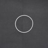 Drátěný kruh na lapač snů bílý - průměr 13 cm
