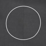 Drátěný kruh na lapač snů bílý - průměr 25 cm