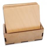 Dřevěné podtácky čtvercové - sada 6 ks