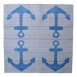 Ubrousek mořský svět - modrá kotva