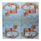 Ubrousek vánoční - houpací kůň
