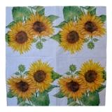 Ubrousek květiny - slunečnice na bílé