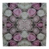 Ubrousek květiny - růžové růže