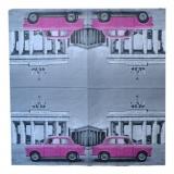 Ubrousek dopravní prostředky - růžový trabant