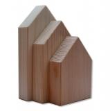 Dřevěné domečky - sada